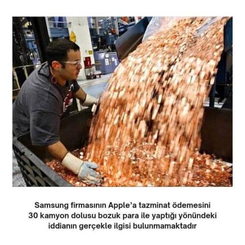 samsung apple bozuk parayla tazminat ödemesi