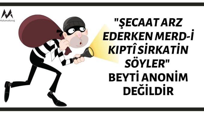 """""""Şecaat Arz Ederken Merd-i Kıptî Sirkatin Söyler"""""""