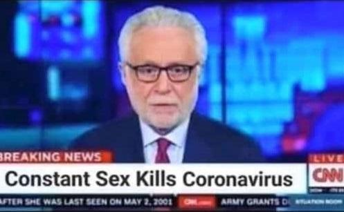 Seksin koronavirüsü öldürdüğü iddiasını içeren montaj ekran görüntüsü
