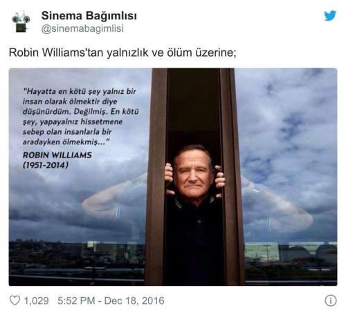 Robin Williams yalnızlık ölüm