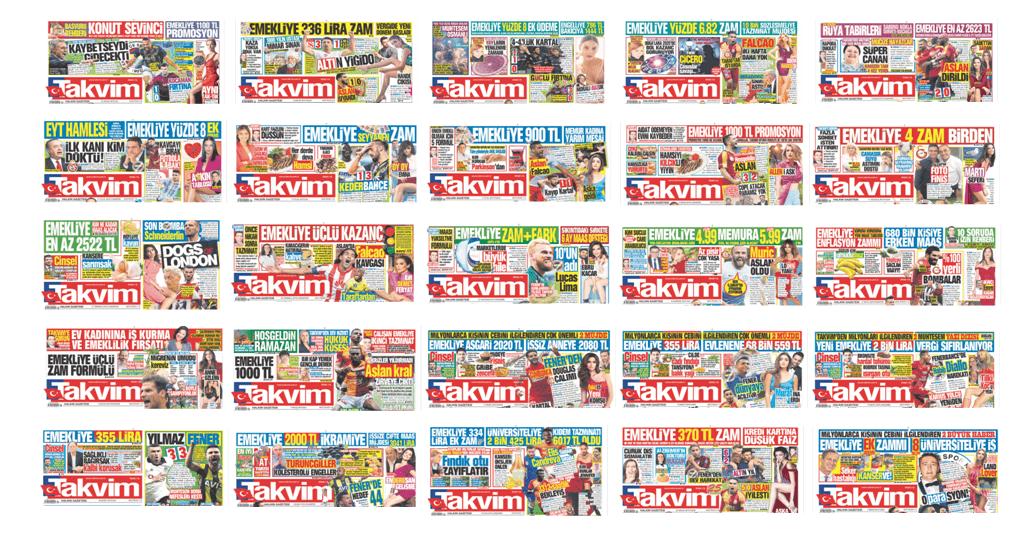 takvim-gazetesi-emekli-mansetleri