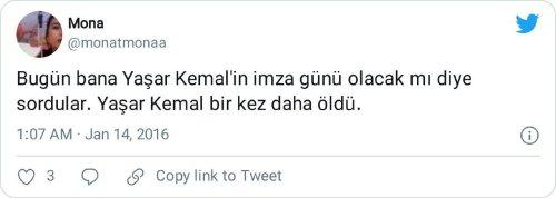 Yaşar Kemal imza günü