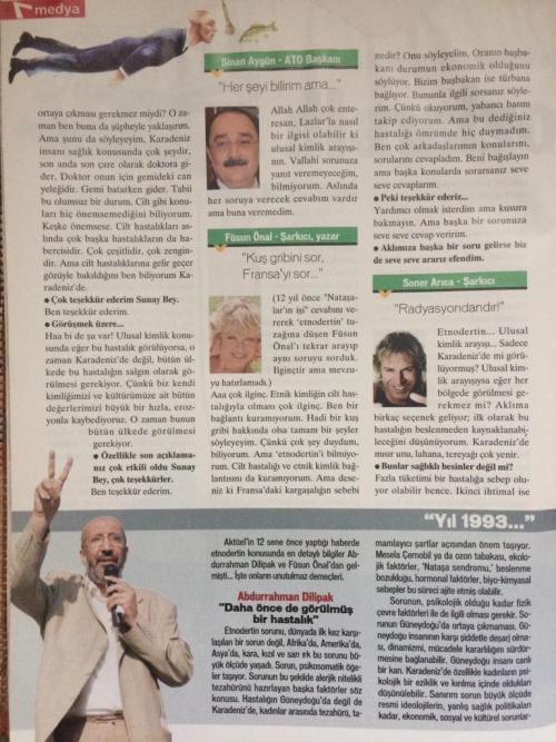"""Yeni Aktüel Dergisinin """"Medya Maydanozları II"""" başlıklı yazısı (sf. 3)"""