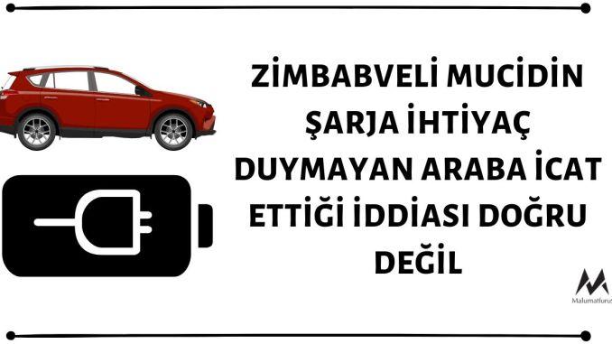 Sangulani Maxwell Chikumbutso Adlı Zimbabveli Mucidin Şarja İhtiyaç Duymayan Elektrikli Araba İcat Ettiği İddiası Asılsız
