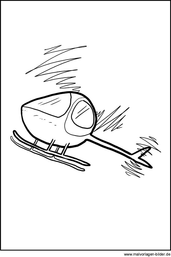 Hubschrauber Kostenlose Ausmalbilder Zum Ausdrucken Und