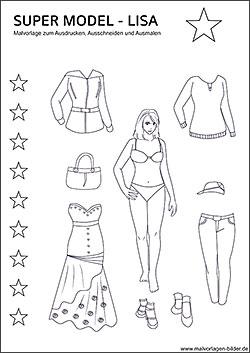 Topmodel Und Models Malvorlagen Und Ausmalbilder
