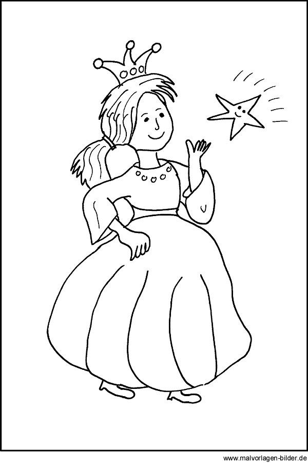 Malvorlage Von Einer Prinzessin Fr Kinder