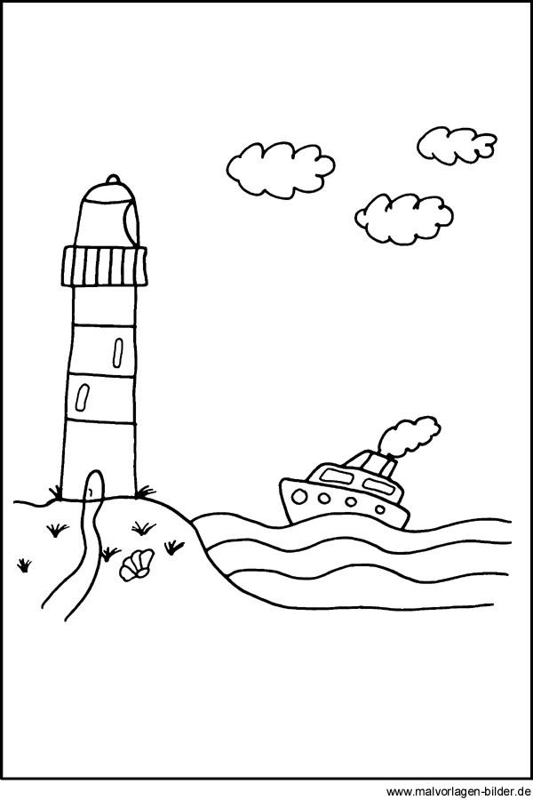 leuchtturm malvorlagen  ausmalbilder seefahrt kostenlose