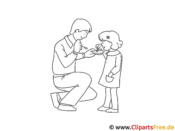 Zeichnen Lernen Fr Anfnger Vater Und Mdchen