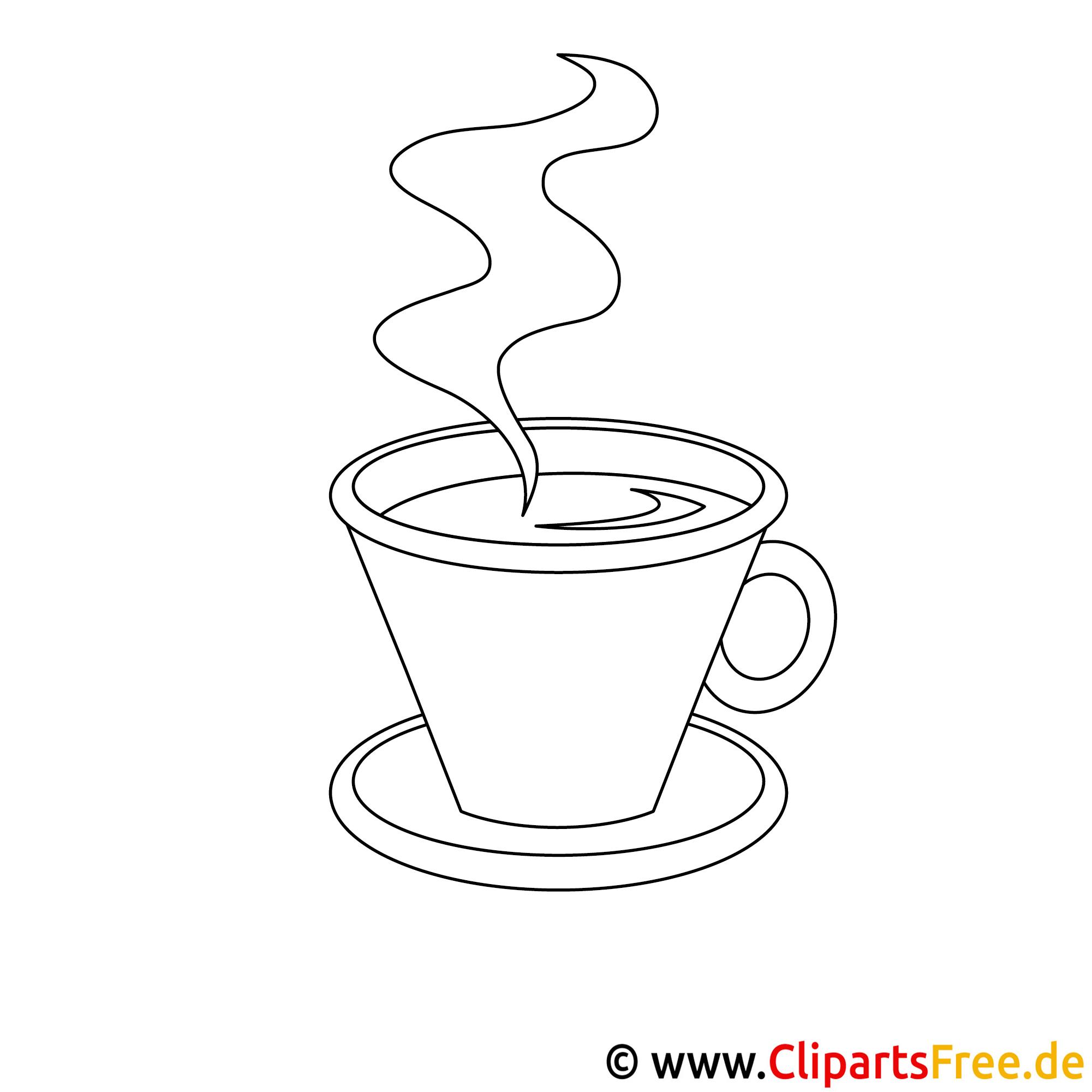 Kaffeetasse Bild Zum Ausmalen Malvorlage Ausmalbild