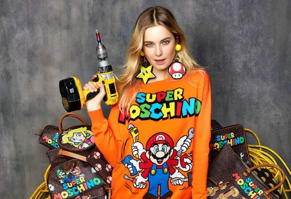 SUPER MARIO BROS IN MOSCHINO!