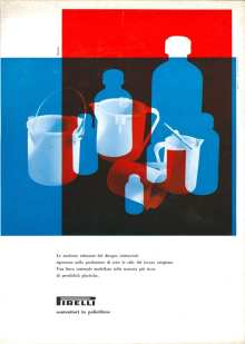 Lica e Albe Steiner. Pagina pubblicitaria per prodotti Pirelli, 1960