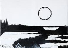 """""""Orizzonte"""", 2002, smalto su tela, 150x180 cm. Crediti fotografici: Barbara Bernabei"""
