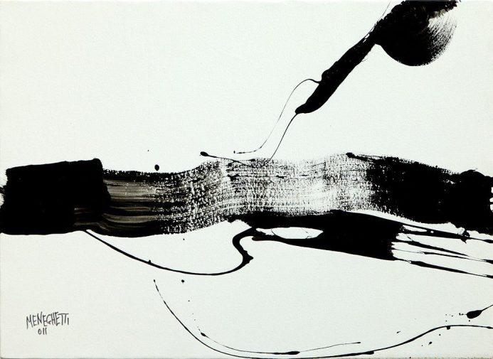 """ANTONIO MENEGHETTI Dentro l'Orizzonte"""" , 2011, smalto su tela, 50x70 cm. Crediti fotografici: Barbara Bernabei"""