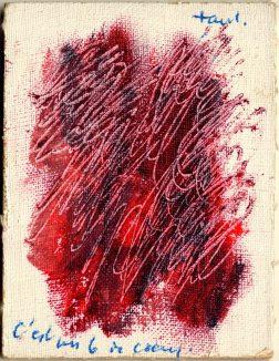 Carta da gioco dipinta da Jean Fautrier