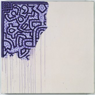 K. Haring, Unfinished painting (1989)