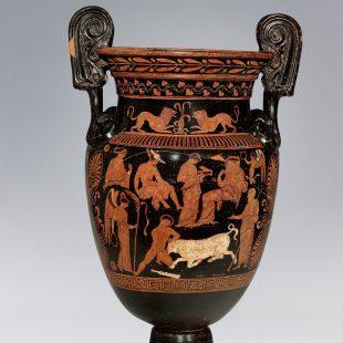 Il-Viaggio-dell'Eroe-Ceramiche-Intesa- sanpaolo-Fondazione Agnelli-Teseo uccide il toro maratonio