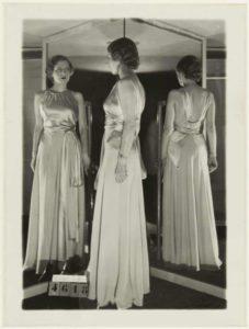Mame Moda Anni 30 il grande abito da sera bianco. Madeleine Vionnet 1933
