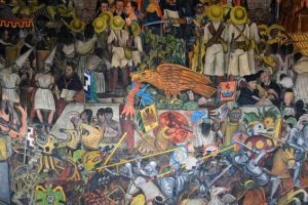 mam-e arte DIEGO RIVERA RIVOLUZIONARIO CON I MURALES diego Mexican-history-at-the-National-Gallery-in-Mexico-City-Image-via-Yelp-com