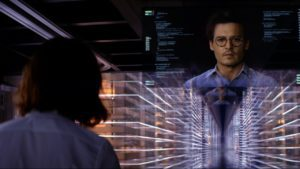 mame cinema TRANSCENDENCE - JOHNNY DEPP STASERA IN TV scena