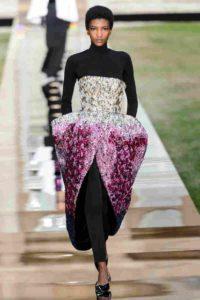Mame Moda Givenchy Haute Couture autunno 2018. Abito bustier