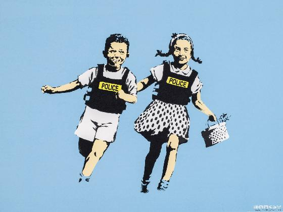 Mame arte A VISUAL PROTEST. THE ART OF BANKSY police kids