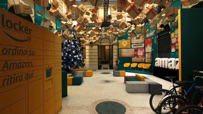 Mame Moda Amazon: pop-up store a Milano per il Black Friday. Interni Loft for Christmas