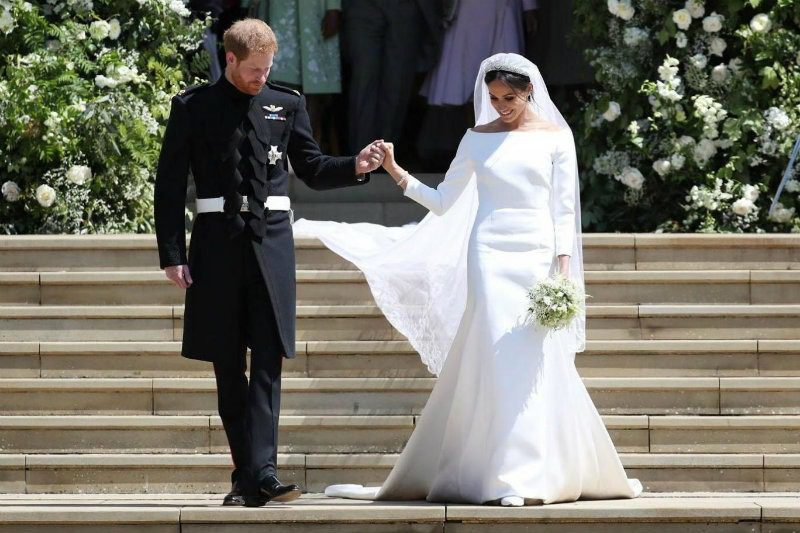 Miles Cyrus wedding dress by Vivienne Westwood. Meghan markle wedding dress