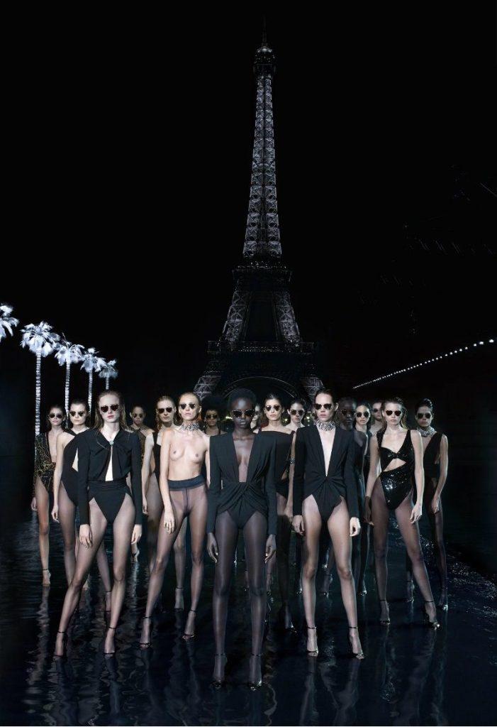 Saint Laurent Self 02 con Vanessa Beecroft. Modelle Saint Laurent