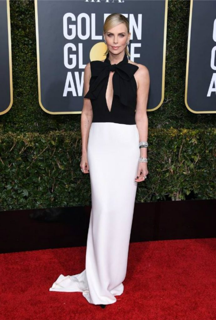 Golden Globe 2019, i look del red carpert. Charlize Theron