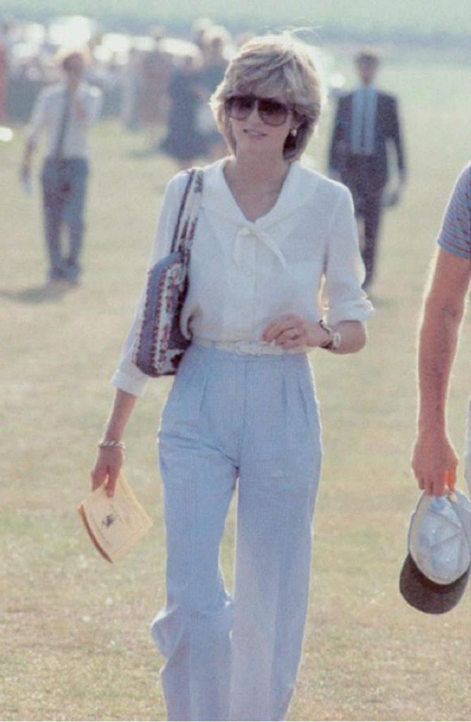 Lady Diana in mostra a Kensington Palace. Lady Diana casual look
