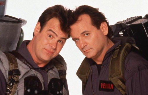 Aykroyd e Murray in ghostbusters