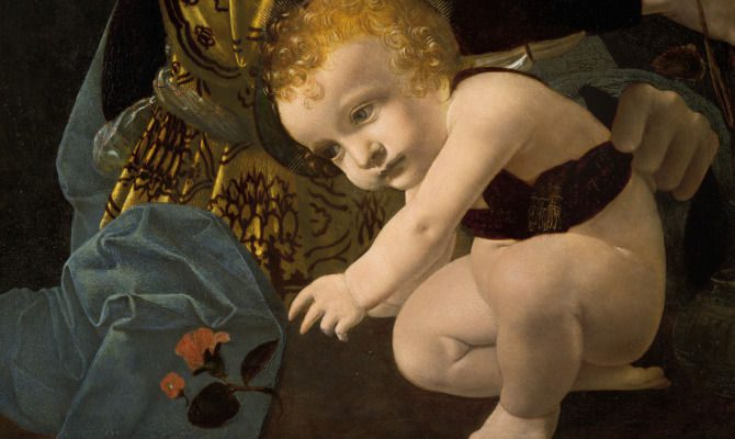 Mame arte DOPO 30 ANNI TORNA A MILANO LA MADONNA LITTA DI LEONARDOParticolare de La Madonna della Rosa
