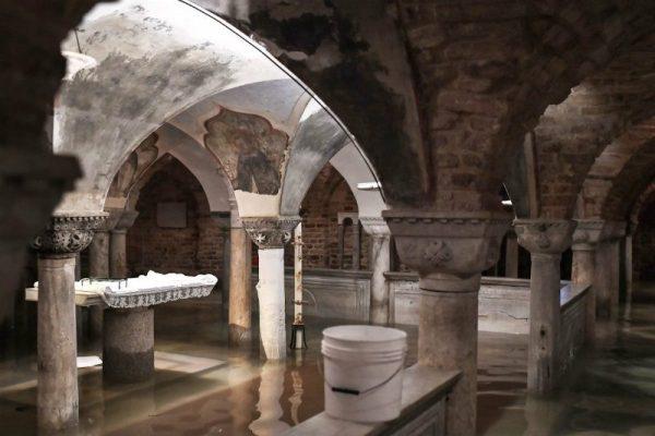 Cripta San Marco allagata. 12 novembre 2019