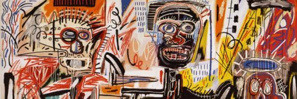 Un discorso a parte, quello di Basquiat. In questo artista si notano due atteggiamenti diversi:da un lato il Rinascimento di Harlem, dall'altro il figlio dell'era dei diritti civili.