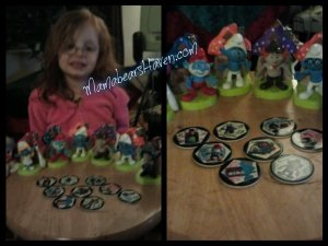 Madisen and her Smurfs
