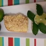 Lime Cream Cheese Crumble Cake