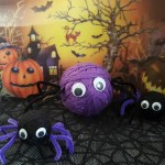 Yarn Halloween Spiders – Party Decorations
