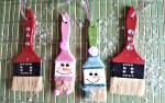 paintbrush ornaments