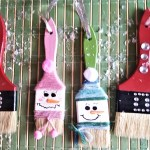 Paintbrush Ornaments – DIY Holiday Decor