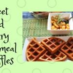 Sweet and Savoury Cornmeal Waffles