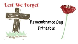 Remembrance Day Printables