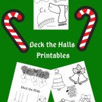 Deck the Halls Christmas Colouring Printable