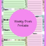 Weekly Goal Planner Printable – Plan Your Week