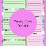 Weekly Goal Planner Printable – Plan Your Week