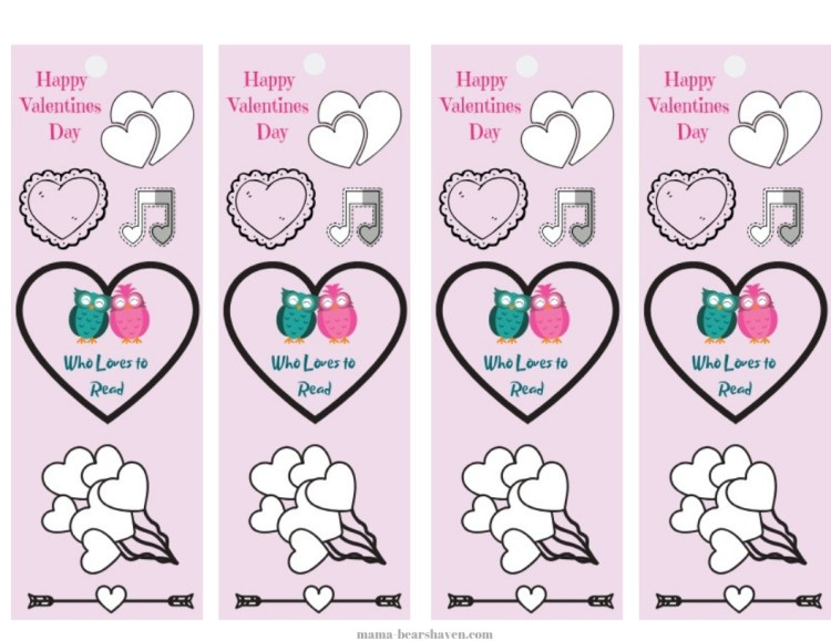 DIY Valentine Bookmark Cards