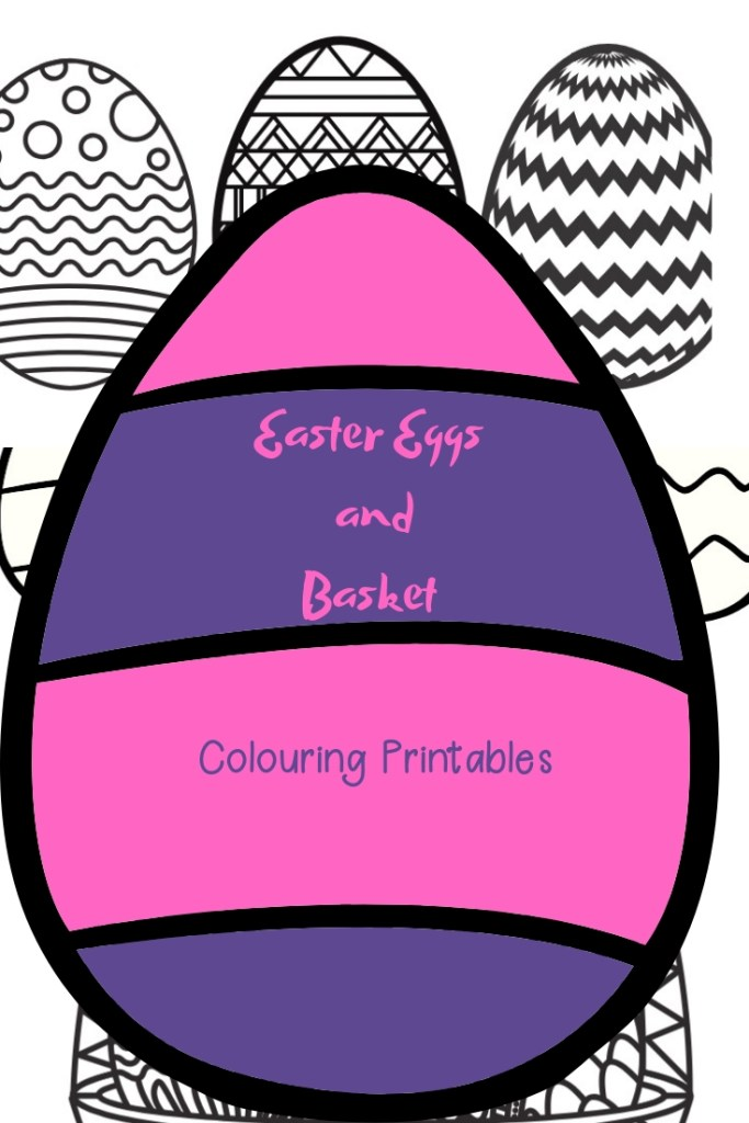 Easter Eggs and Basket Colouring