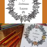 Autumn Leaves Colouring Printable – Fall Fun for Everyone