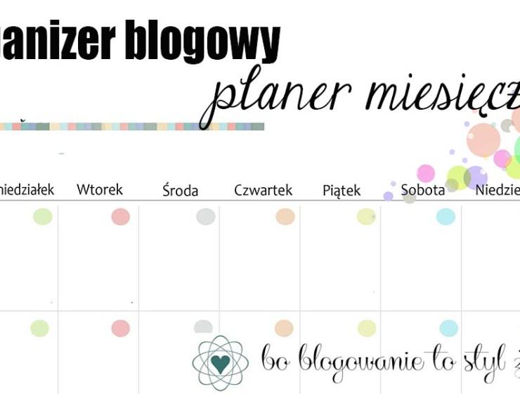 organizer blogowy ikona - BLOGOWY ORGANIZER - PLANER MIESIĘCZNY - CZ.1