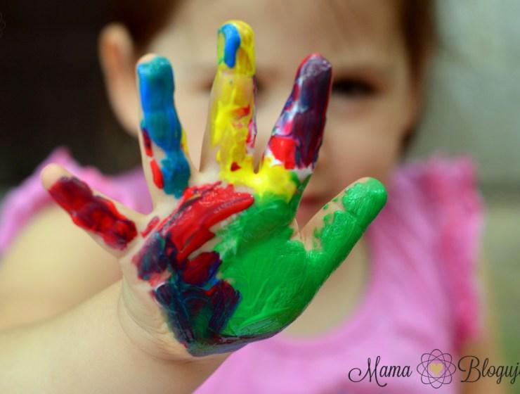 malowanie palcami 5 - BRUDNA ZABAWA - MALOWANIE PALCAMI